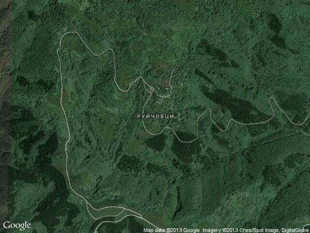 Сателитна карта на Руйчовци