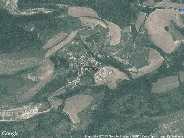 Сателитна карта на Руня