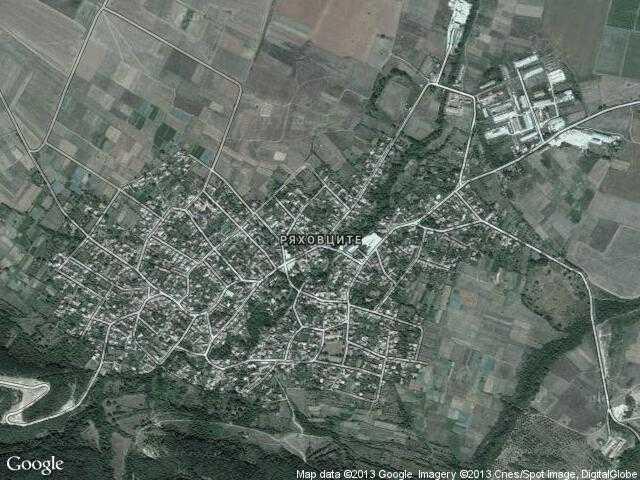 Сателитна карта на Ряховците