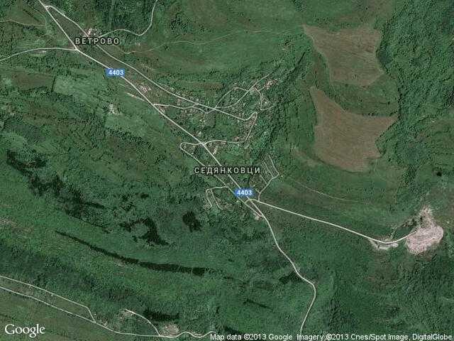Сателитна карта на Седянковци