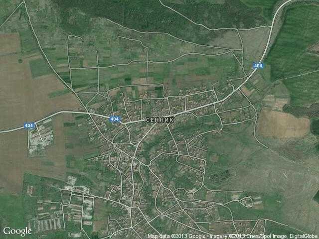 Сателитна карта на Сенник