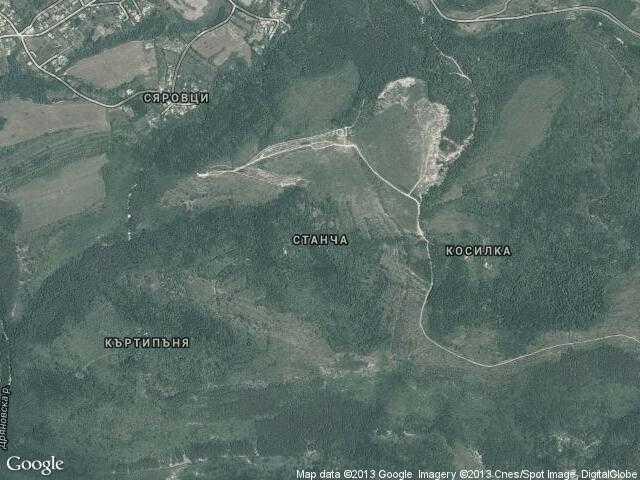 Сателитна карта на Станча