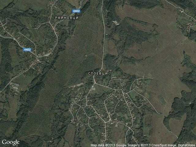 Сателитна карта на Стоевци