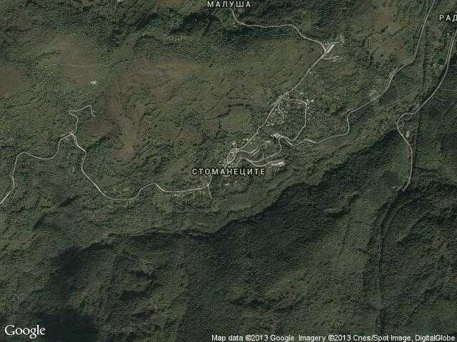 Сателитна карта на Стоманеците