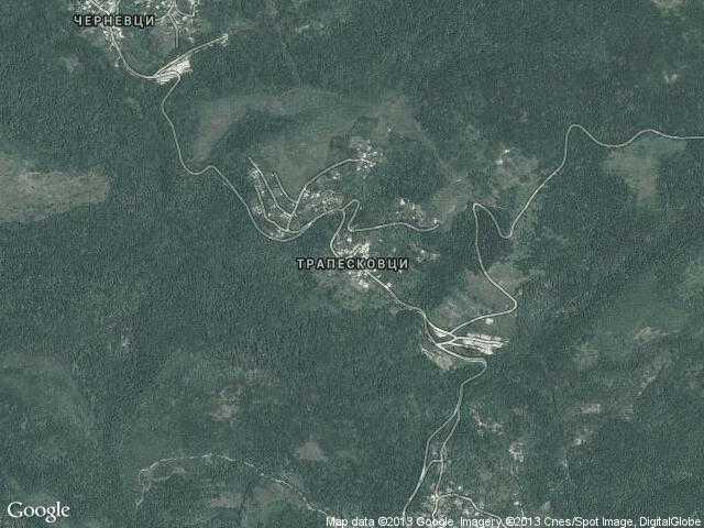 Сателитна карта на Трапесковци