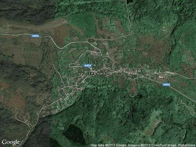 Сателитна карта на Трънито