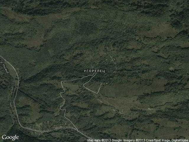 Сателитна карта на Угорелец