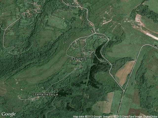 Сателитна карта на Узуните