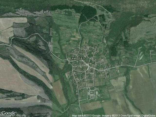 Сателитна карта на Хирево