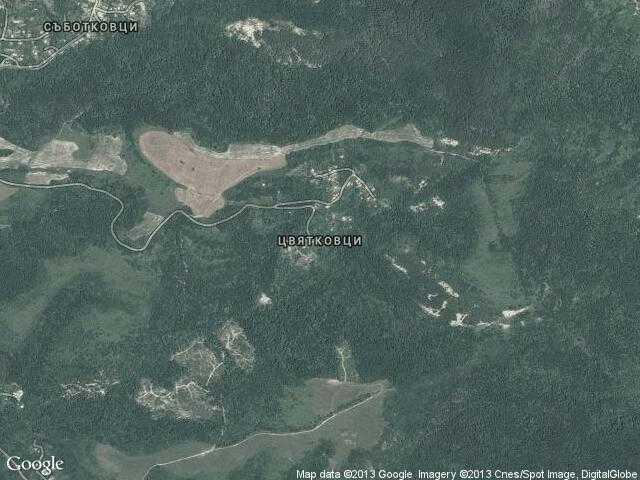 Сателитна карта на Цвятковци