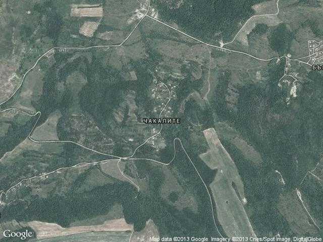 Сателитна карта на Чакалите