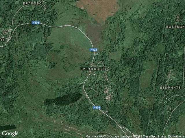 Сателитна карта на Читаковци
