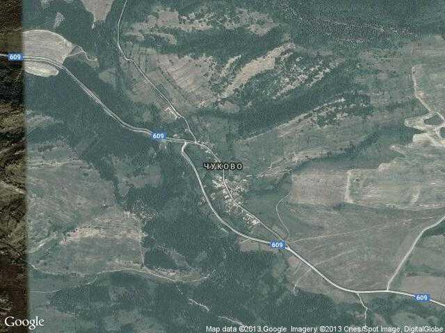Сателитна карта на Чуково