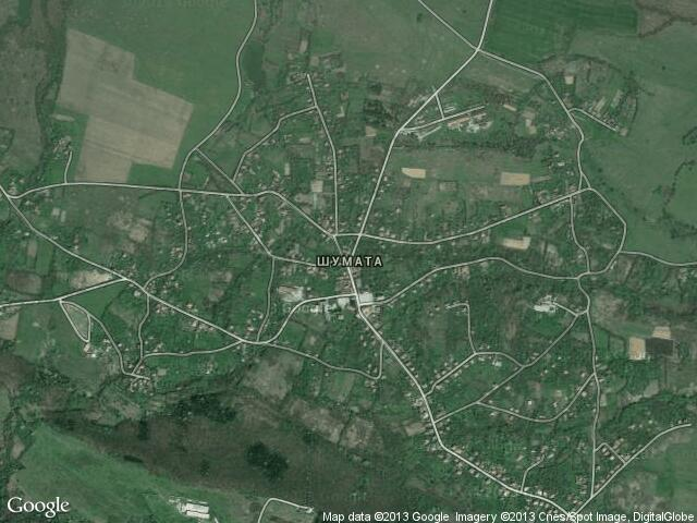 Сателитна карта на Шумата