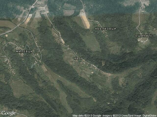 Сателитна карта на Явор