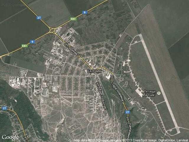 Сателитна карта на Балчик