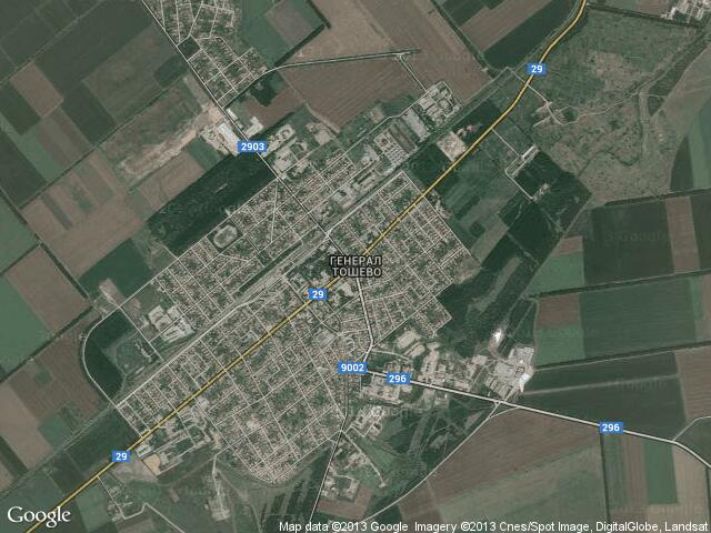 Сателитна карта на Генерал Тошево