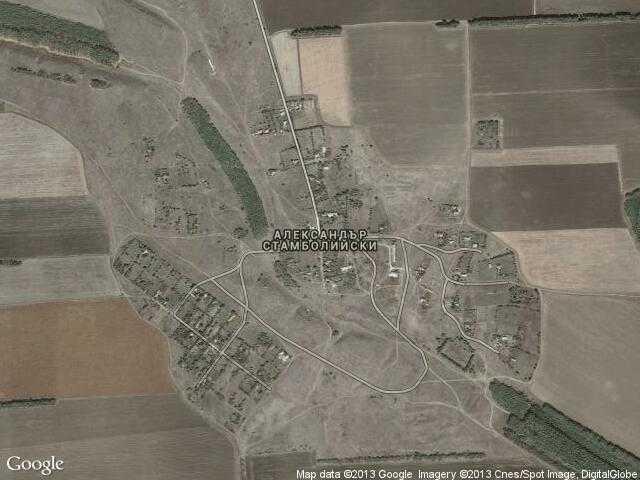 Сателитна карта на Александър Стамболийски