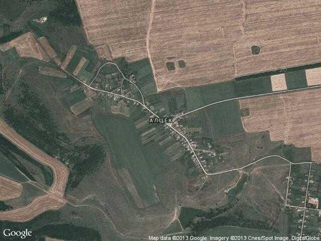 Сателитна карта на Алцек