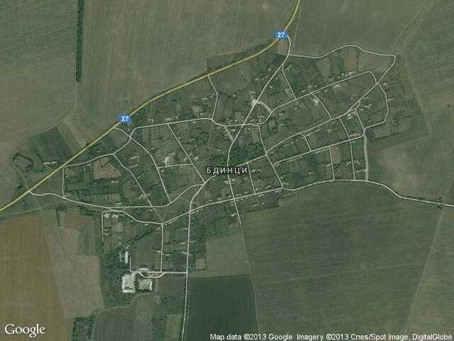 Сателитна карта на Бдинци