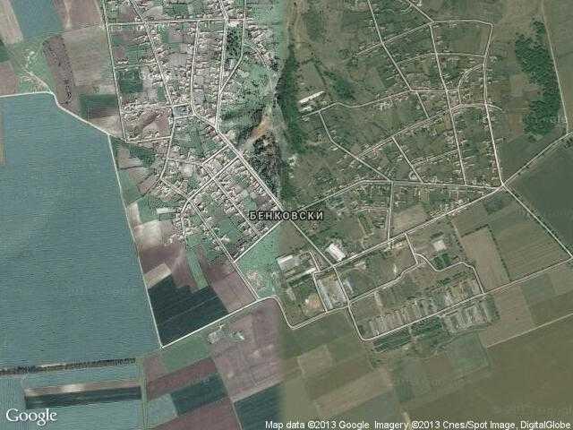 Сателитна карта на Бенковски