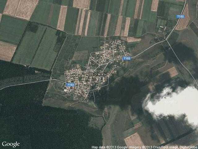 Сателитна карта на Божан