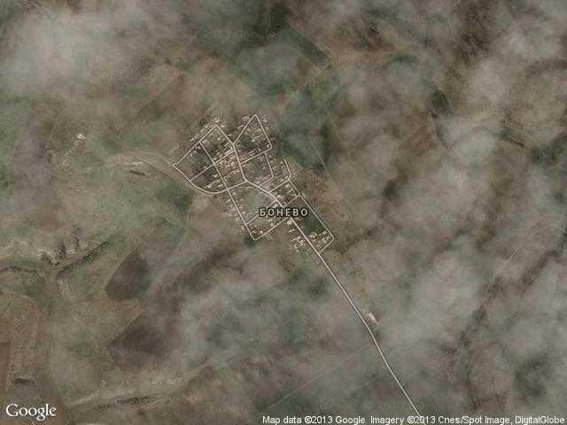 Сателитна карта на Бонево