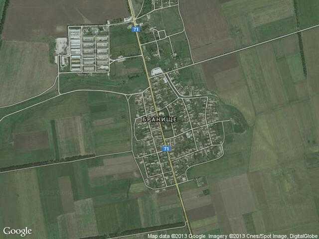Сателитна карта на Бранище