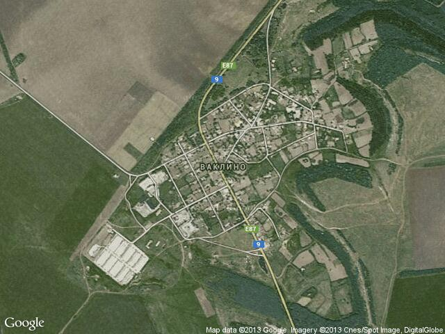 Сателитна карта на Ваклино