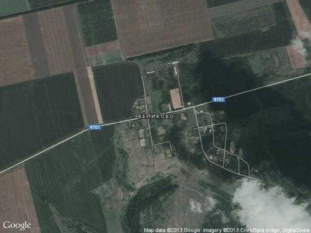 Сателитна карта на Великово
