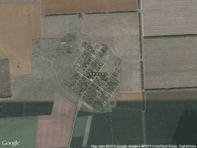 Сателитна карта на Вичово