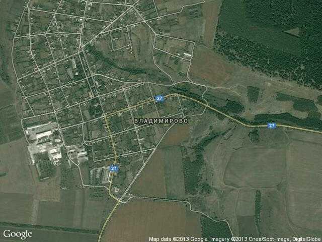 Сателитна карта на Владимирово