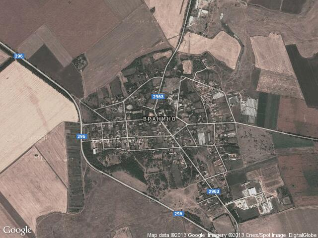 Сателитна карта на Вранино