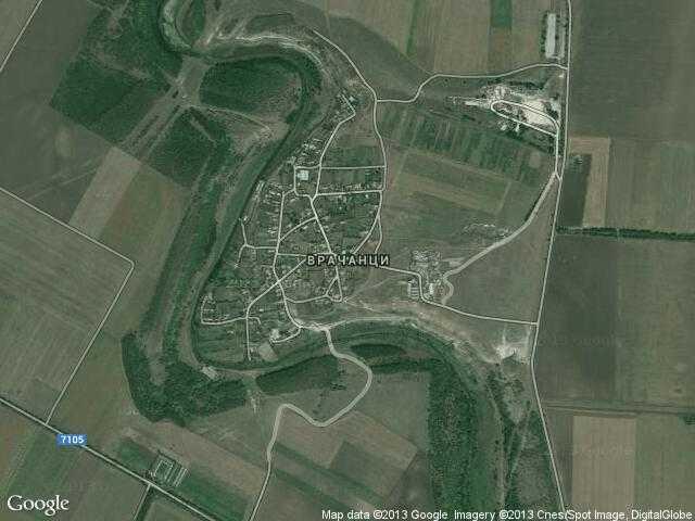 Сателитна карта на Врачанци