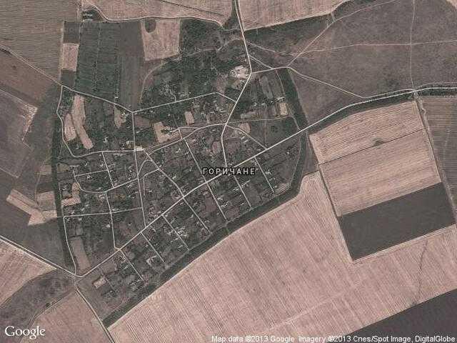 Сателитна карта на Горичане