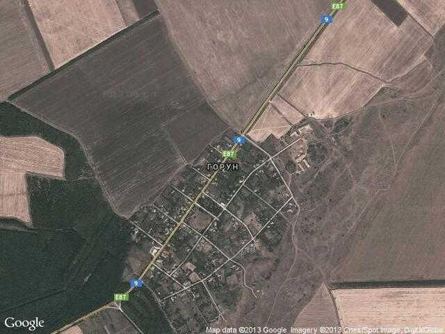 Сателитна карта на Горун