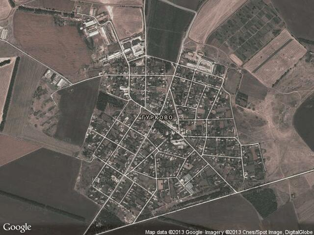 Сателитна карта на Гурково