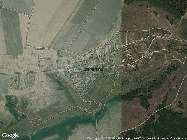 Сателитна карта на Дебрене