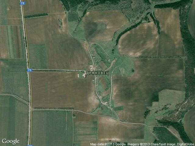 Сателитна карта на Дряновец