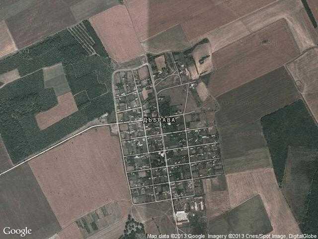 Сателитна карта на Дъбрава