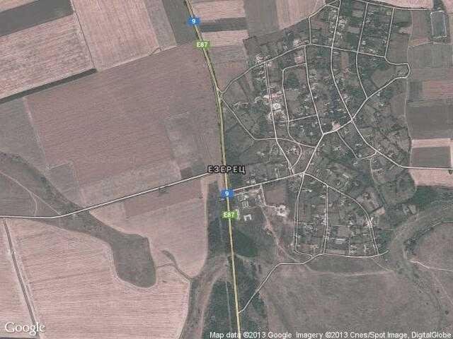 Сателитна карта на Езерец