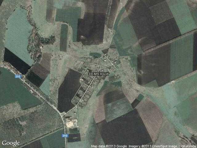 Сателитна карта на Земенци