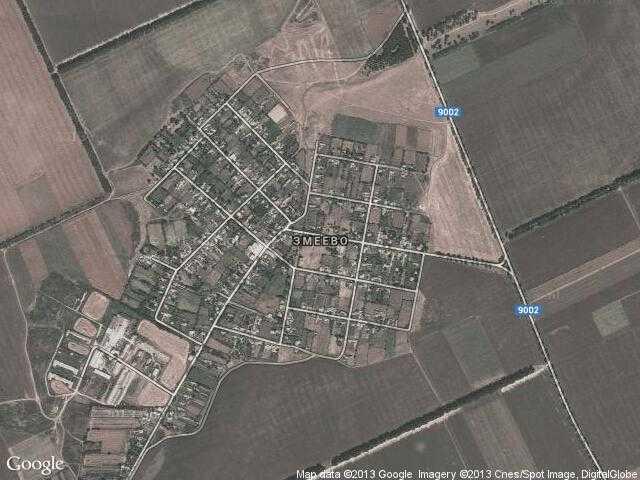 Сателитна карта на Змеево