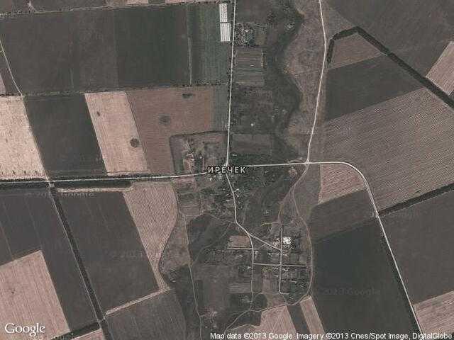 Сателитна карта на Иречек
