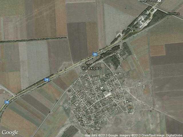 Сателитна карта на Йовково