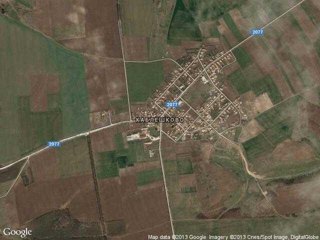 Сателитна карта на Каблешково
