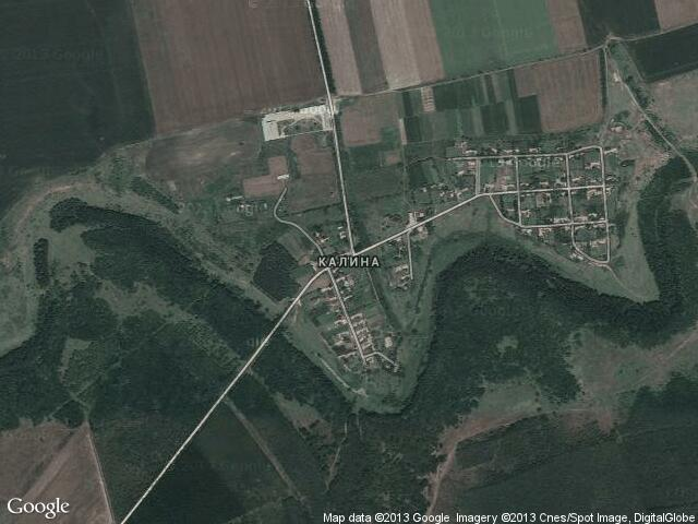 Сателитна карта на Калина