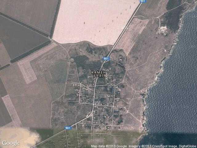 Сателитна карта на Камен бряг