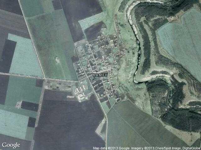 Сателитна карта на Камен