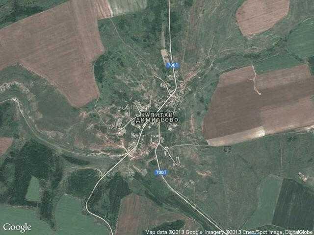 Сателитна карта на Капитан Димитрово